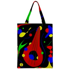 Abstract Guitar  Zipper Classic Tote Bag by Valentinaart