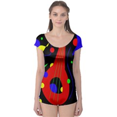 Abstract Guitar  Boyleg Leotard  by Valentinaart