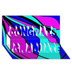 Purple And Blue Congrats Graduate 3d Greeting Card (8x4)  by Valentinaart