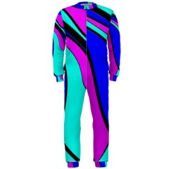 Purple And Blue Onepiece Jumpsuit (men)  by Valentinaart