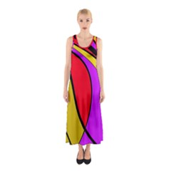 Colorful Lines Sleeveless Maxi Dress by Valentinaart