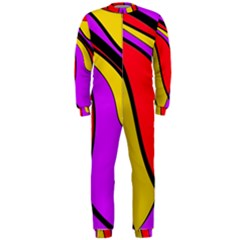 Colorful Lines Onepiece Jumpsuit (men)  by Valentinaart