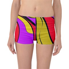 Colorful Lines Reversible Boyleg Bikini Bottoms by Valentinaart
