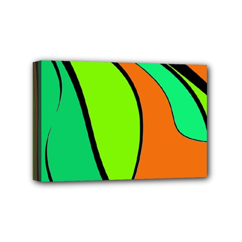 Green And Orange Mini Canvas 6  X 4  by Valentinaart