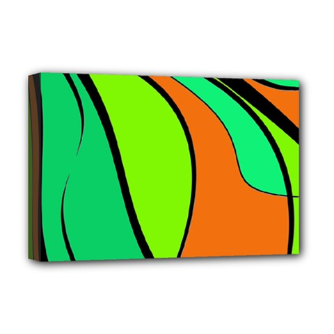 Green And Orange Deluxe Canvas 18  X 12   by Valentinaart