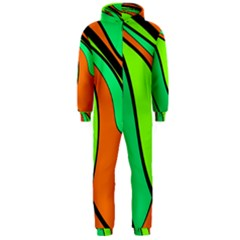 Green And Orange Hooded Jumpsuit (men)  by Valentinaart