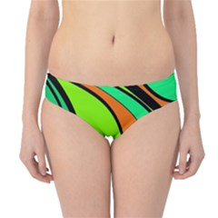 Green And Orange Hipster Bikini Bottoms by Valentinaart