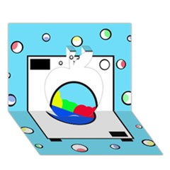 Washing Machine  Apple 3d Greeting Card (7x5)  by Valentinaart