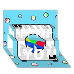 Washing Machine  Thank You 3d Greeting Card (7x5)  by Valentinaart