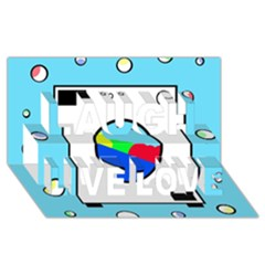 Washing Machine  Laugh Live Love 3d Greeting Card (8x4)
