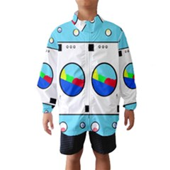 Washing Machine  Wind Breaker (kids) by Valentinaart