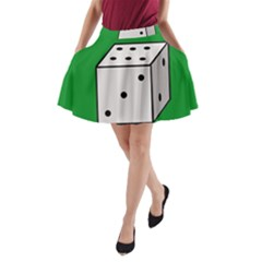 Dice  A Line Pocket Skirt by Valentinaart