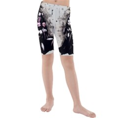 No Rest For The Wicked Kid s Mid Length Swim Shorts