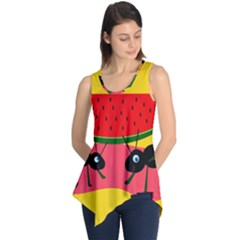 Ants And Watermelon  Sleeveless Tunic by Valentinaart