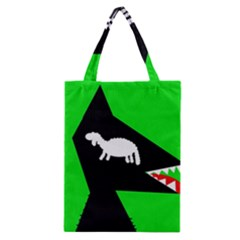 Wolf And Sheep Classic Tote Bag by Valentinaart