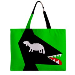 Wolf And Sheep Zipper Mini Tote Bag by Valentinaart