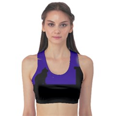 Cat On The Roof  Sports Bra by Valentinaart