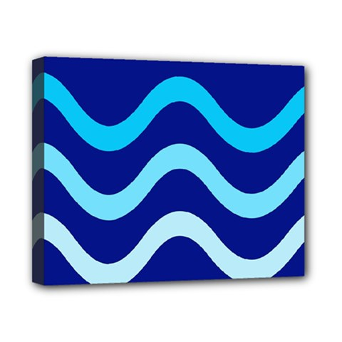 Blue Waves  Canvas 10  X 8  by Valentinaart
