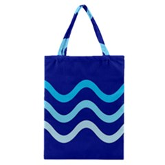Blue Waves  Classic Tote Bag by Valentinaart