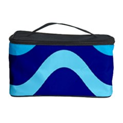 Blue Waves  Cosmetic Storage Case by Valentinaart
