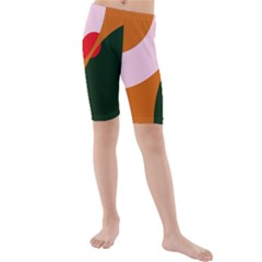 Decorative Abstraction  Kid s Mid Length Swim Shorts by Valentinaart