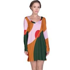 Decorative Abstraction  Long Sleeve Nightdress by Valentinaart