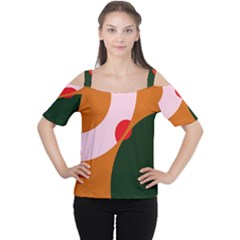 Decorative Abstraction  Women s Cutout Shoulder Tee by Valentinaart