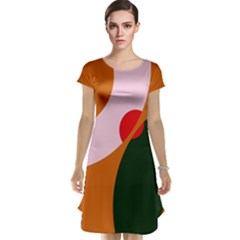 Decorative Abstraction  Cap Sleeve Nightdress by Valentinaart