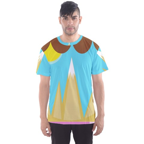 Abstract Landscape  Men s Sport Mesh Tee by Valentinaart