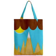 Abstract Landscape  Zipper Classic Tote Bag by Valentinaart