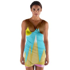 Abstract Landscape  Wrap Front Bodycon Dress by Valentinaart