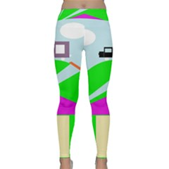 Abstract Landscape  Yoga Leggings by Valentinaart