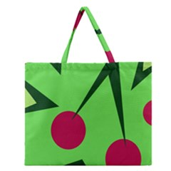 Cherries  Zipper Large Tote Bag by Valentinaart
