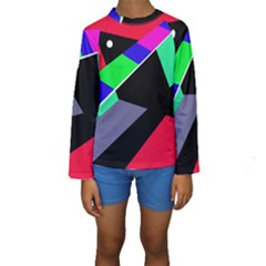 Abstract Fish Kid s Long Sleeve Swimwear by Valentinaart