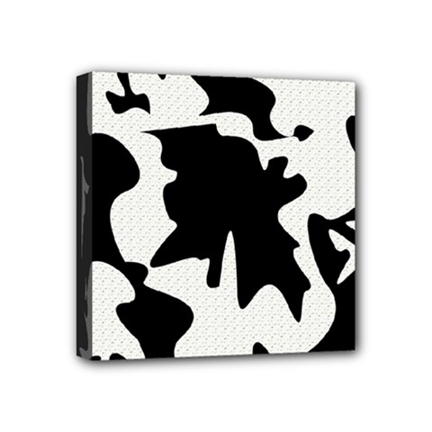 Black And White Elegant Design Mini Canvas 4  X 4  by Valentinaart
