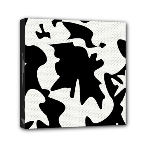 Black And White Elegant Design Mini Canvas 6  X 6