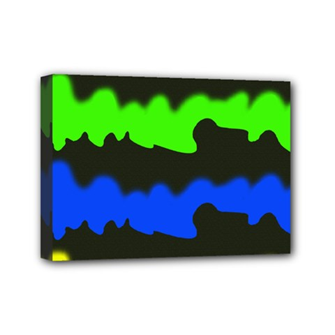 Colorful Abstraction Mini Canvas 7  X 5  by Valentinaart