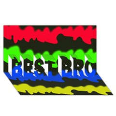 Colorful Abstraction Best Bro 3d Greeting Card (8x4)  by Valentinaart