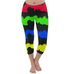 Colorful Abstraction Capri Winter Leggings  by Valentinaart