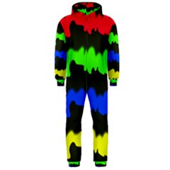 Colorful Abstraction Hooded Jumpsuit (men)  by Valentinaart