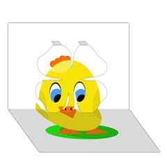 Cute Chicken  Clover 3d Greeting Card (7x5)  by Valentinaart