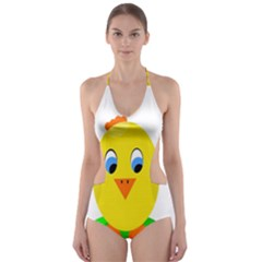 Cute Chicken  Cut Out One Piece Swimsuit by Valentinaart