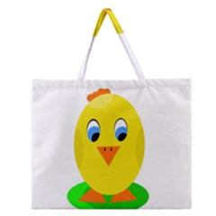 Cute Chicken  Zipper Large Tote Bag by Valentinaart
