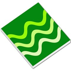 Green Waves Small Memo Pads by Valentinaart