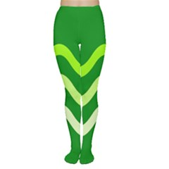 Green Waves Women s Tights by Valentinaart