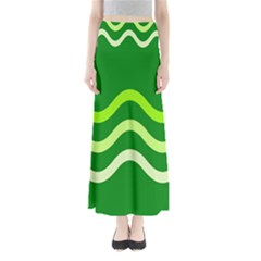 Green Waves Maxi Skirts by Valentinaart