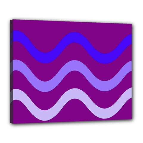 Purple Waves Canvas 20  X 16  by Valentinaart