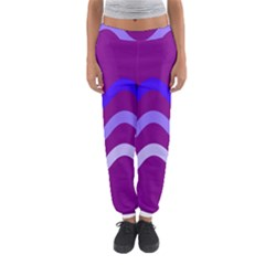 Purple Waves Women s Jogger Sweatpants by Valentinaart