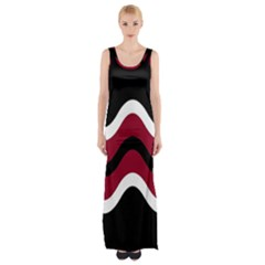Decorative Waves Maxi Thigh Split Dress by Valentinaart