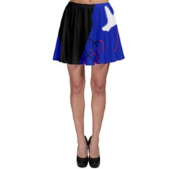 Night Birds  Skater Skirt by Valentinaart